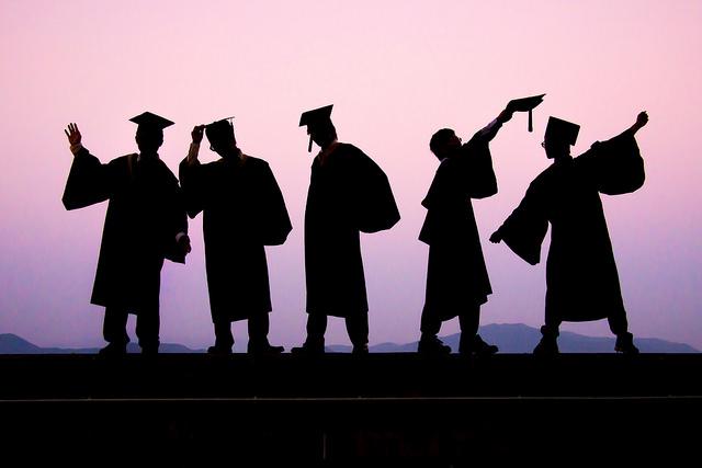 afgestudeerd, geslaagd, vieren, diploma